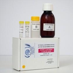 Kit enzymatique pour la détermination de l'acide L-lactique.