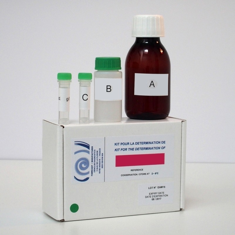 Enzymatic kit for determination of ammoniacal nitrogen.