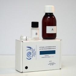 Colorimetric kit for determination of iron.